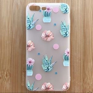 NEW Iphone 7/8/7+/8+ Cactus Floral Case